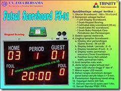 papan skor futsal, papan digital futsal, papan nilai futsal