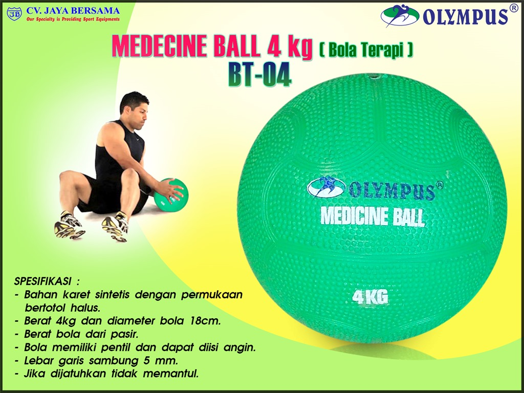 Bola Terapi BT-04 (Medicine Ball 4kg) - DISTRIBUTOR ALAT ...